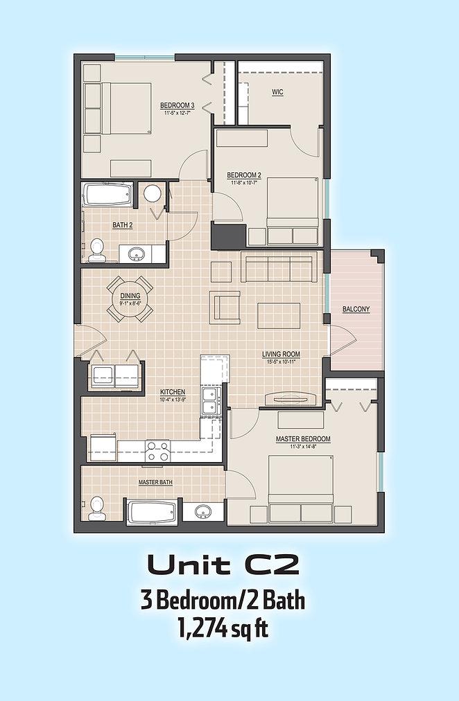 Unit C2 floorplan