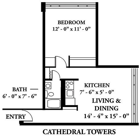 Cathedral Towers sample floorplan