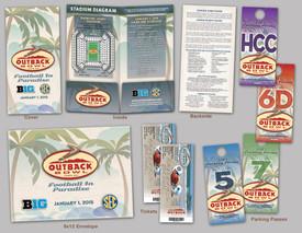 Outback Bowl 2015 Ticket Folder Packet
