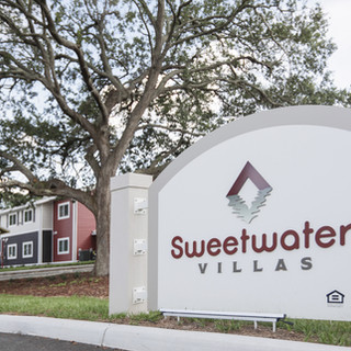 The sign at the entrance of Sweetwater Villas