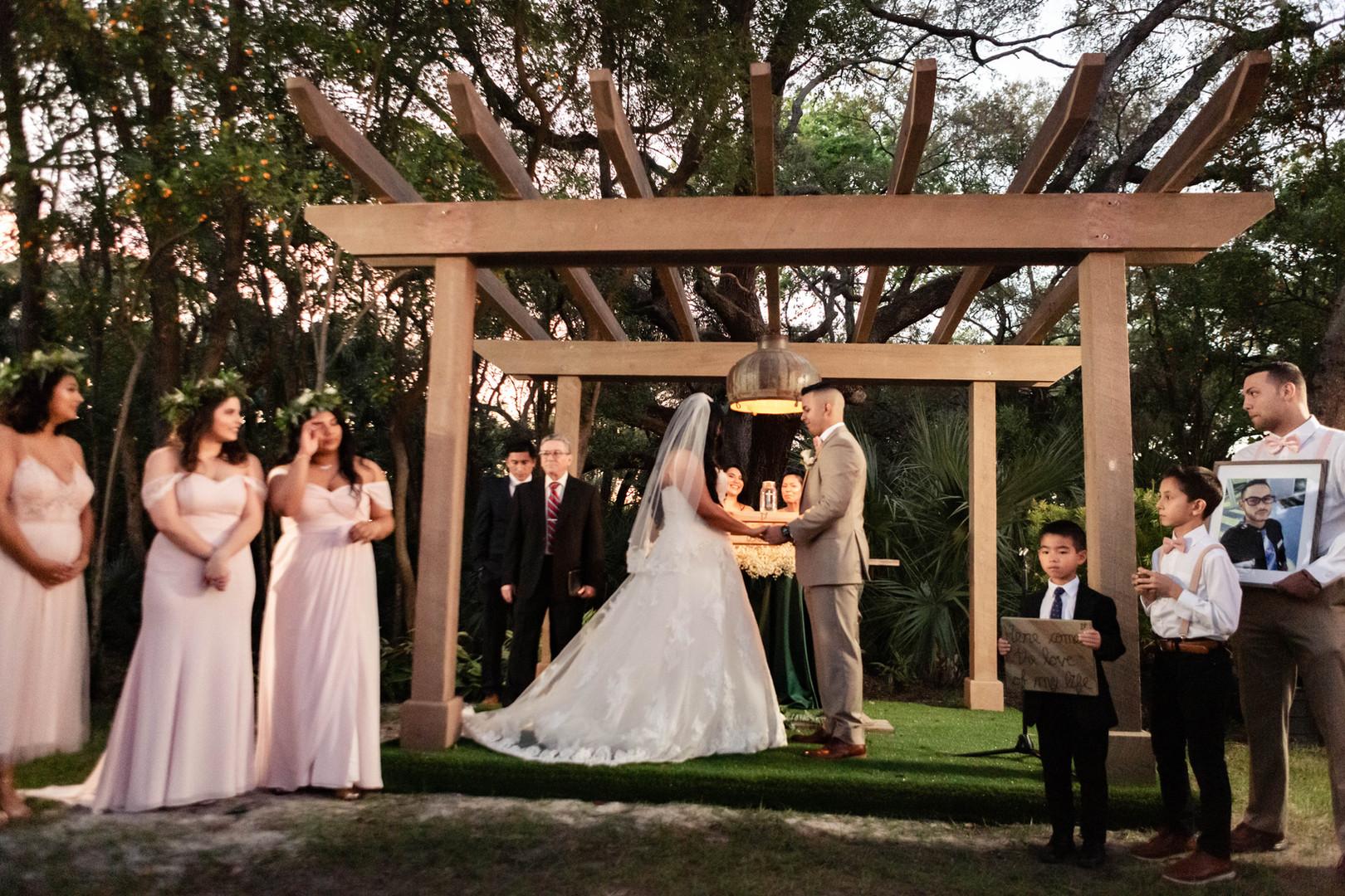 Wedding Ceremony in our Silo Garden