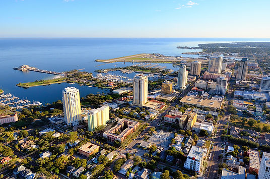 Aerial image of downtown St. Petersburg
