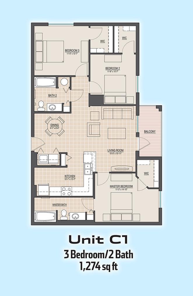 Unit C1 floorplan