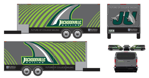 Jacksonville Sailing Trailer Wrap