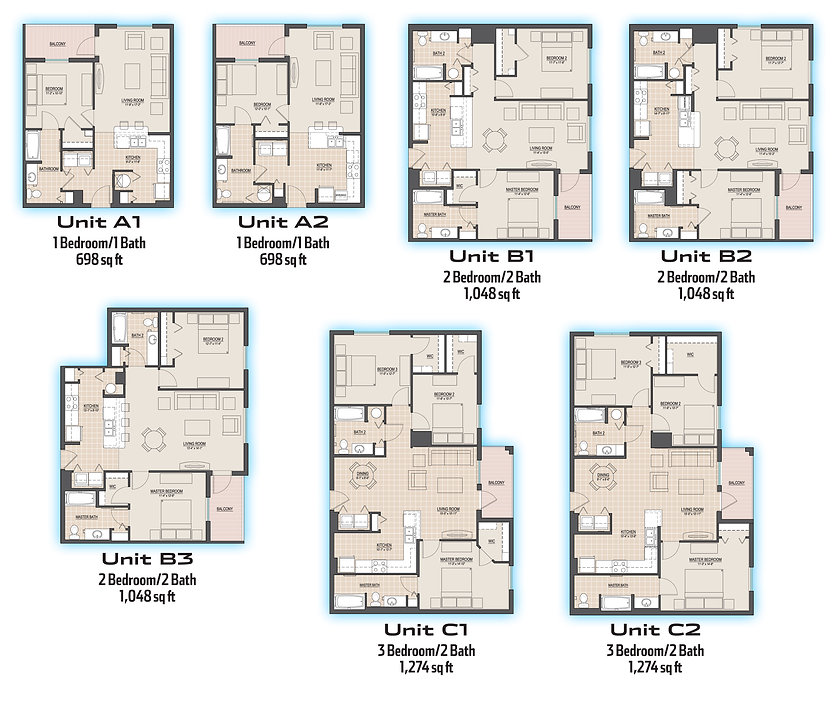 A view of all the floor plans available