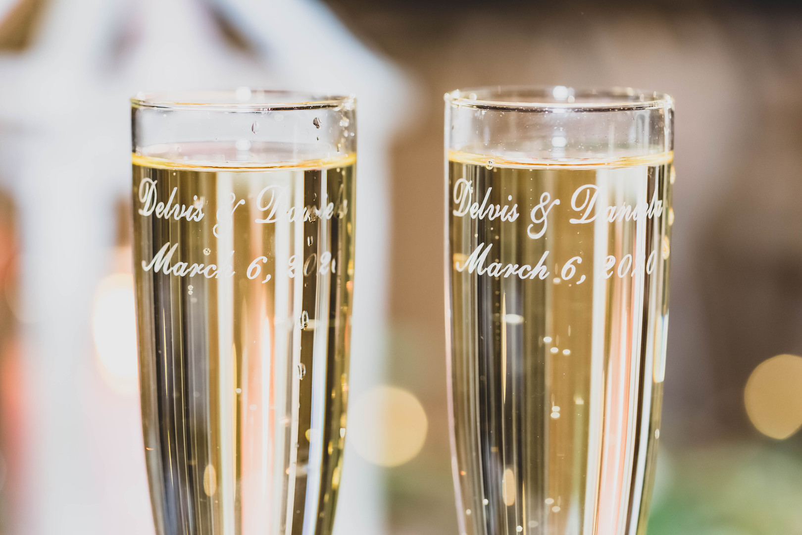Bride & Groom - Champagne Toast