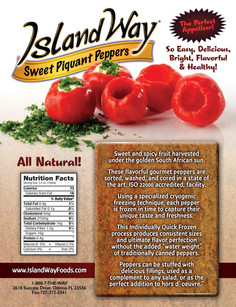 Island Way Peppers Sales sheet