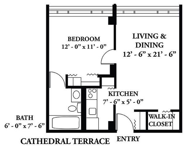 Sample Cathedral Terrace floorplan