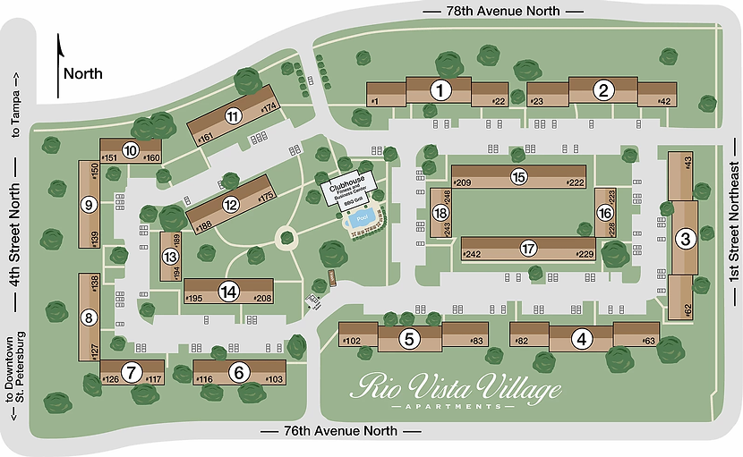 Rio Vista Villas site plan
