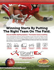 StaffEx ad for Outback Bowl program