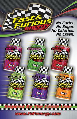 Fast & Furious Energy bottles
