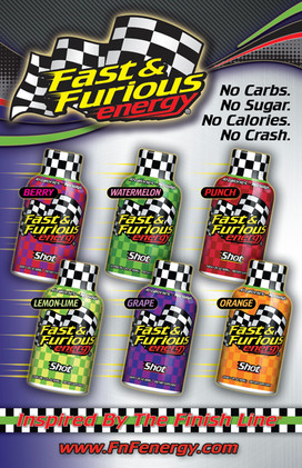 Fast & Furious Energy bottles