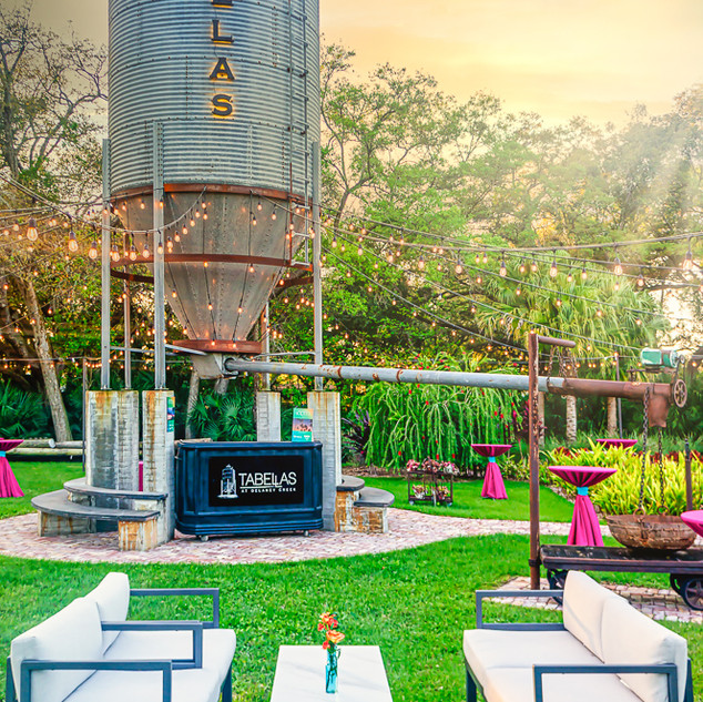 Silo Garden Reception Set-Up
