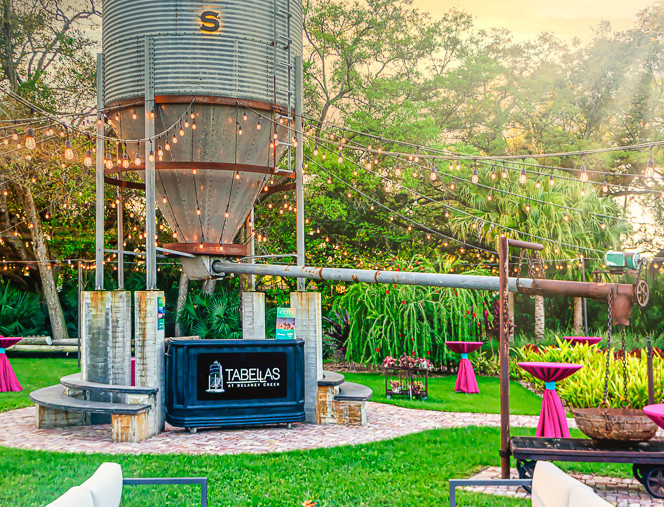 Sunset in our Silo Garden