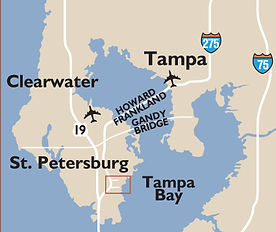 Locator map showing the full Tampa Bay area