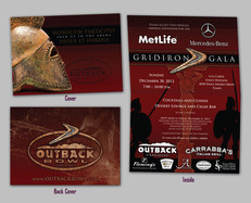 2012 Outback Bowl Grid Iron Gala Invitation