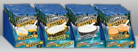 Island Way Sorbet retailer merchandizers