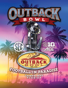 Outback Bowl Program Cover 2021
