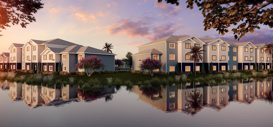 Exterior rendering of Sandpiper Place apartments