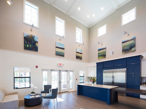 Interior view of the Woodwinds clubhouse