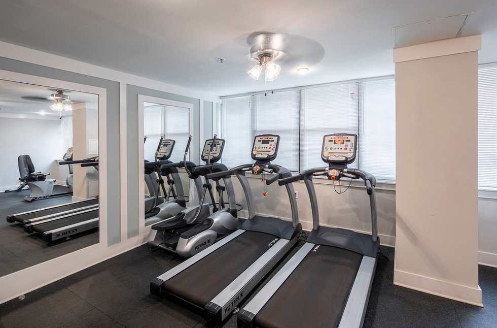 Keep active with an onsite exercise room