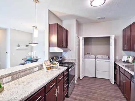 Beautiful kitchen in the furnished model