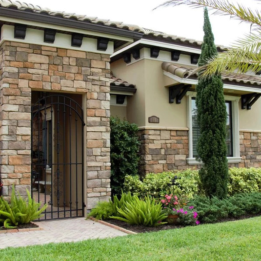 Tuscan Style Courtyard Home