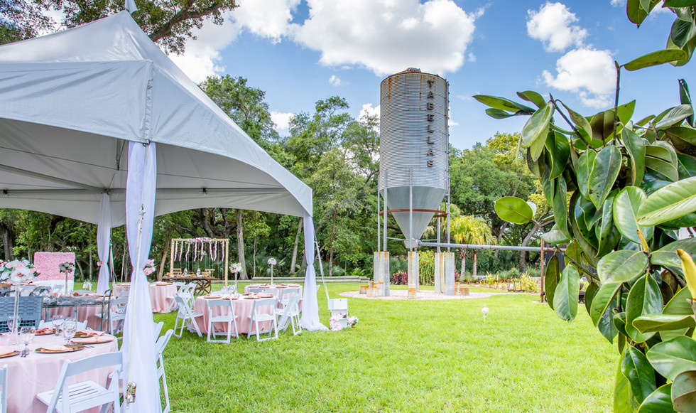 Bridal Shower at Tabellas - an intimate daytime event in our Silo Garden!