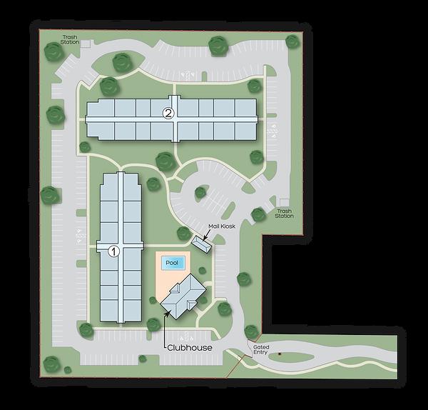 The Blue Sky Brandon site map