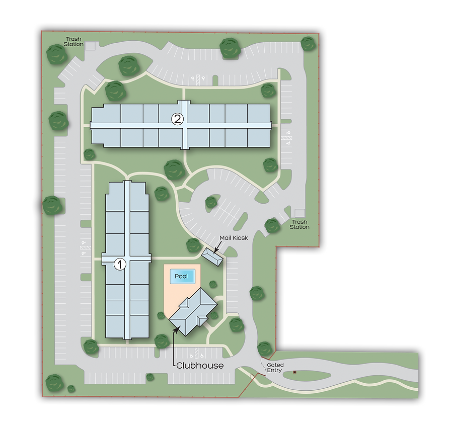 Site map of Blue Sky Brandon