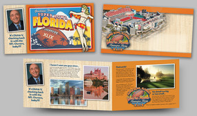 Sample of a set of Super Bowl Pitch Postcard Mailers
