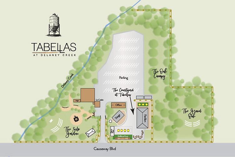 Map of Tabellas Event Spaces
