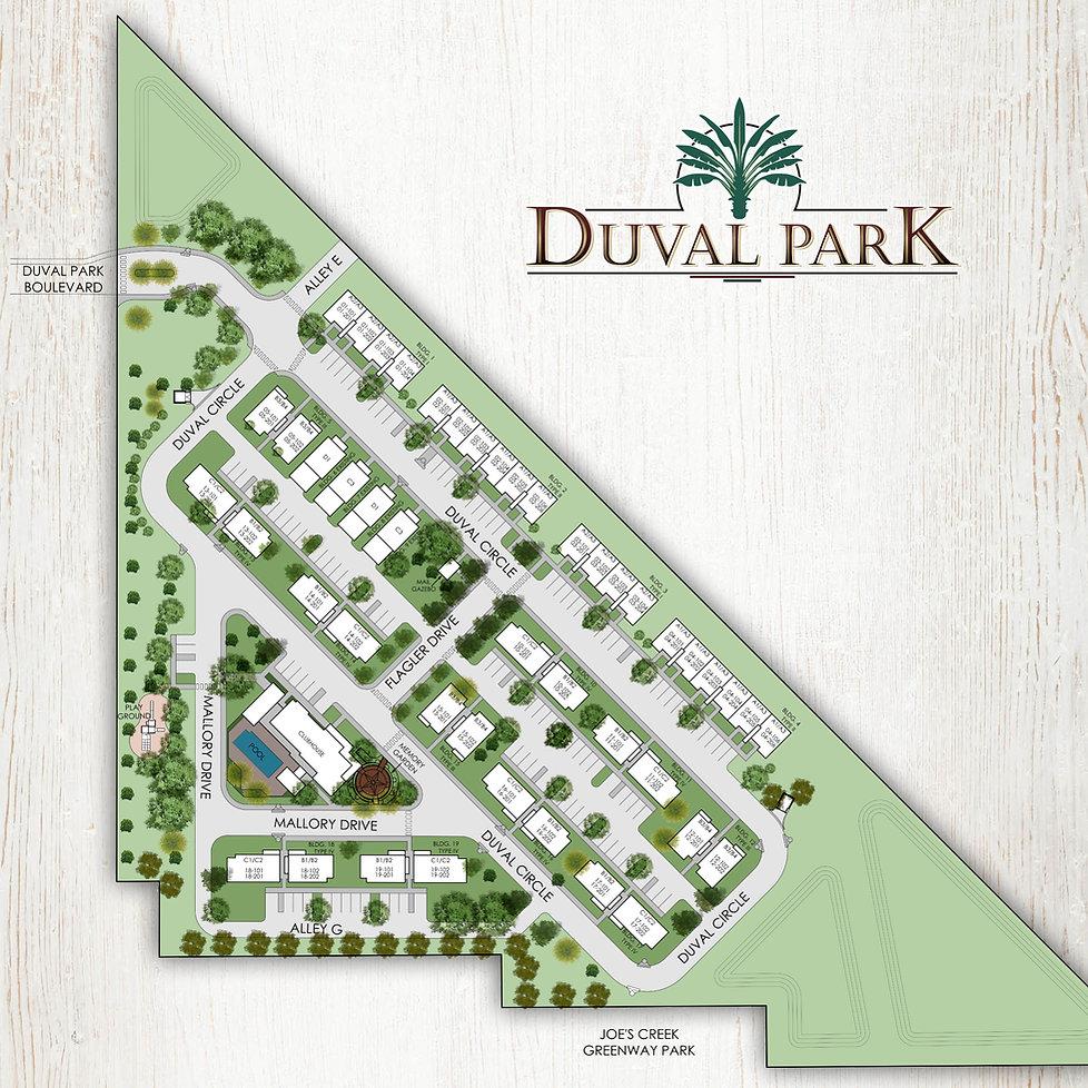 Duval Park site plan