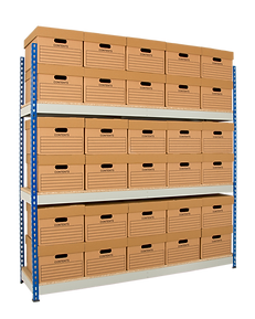 Heavy Duty Rivet Racking with Archive Boxes