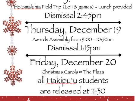 EARLY DISMISSAL DAYS - SCHEDULE CHANGES (Click on Flyer to see)