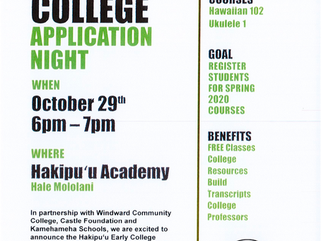 Early College Application Night