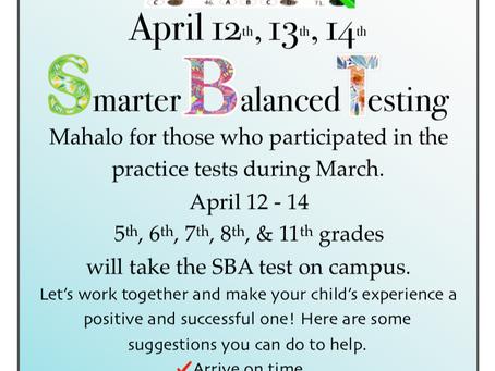 April 2021 SmarterBalanced Testing