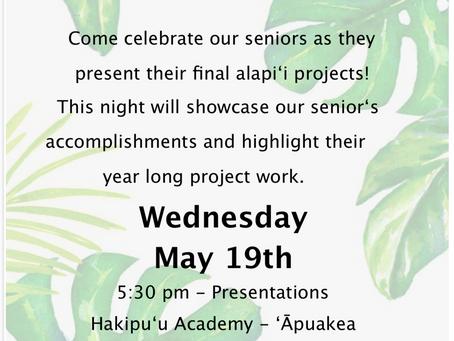Senior Hōʻike 5/19/21