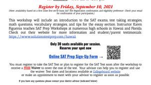 TRiO SAT Prep Courses