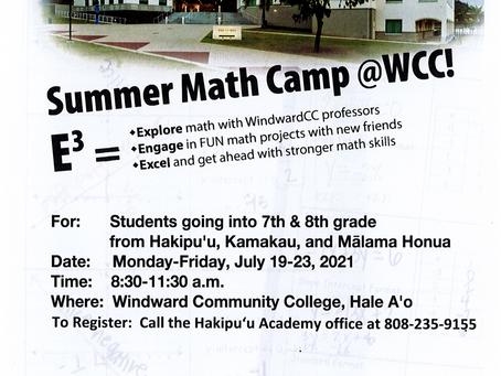 Summer 2021 Math Camp