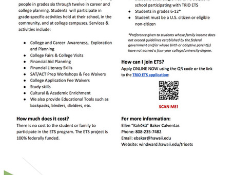 TRiO Services and SAT Prep Classes
