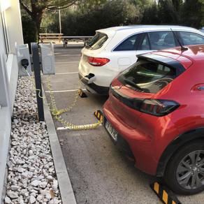Installation de deux bornes de recharges pour une entreprise à Aix-en-Provence