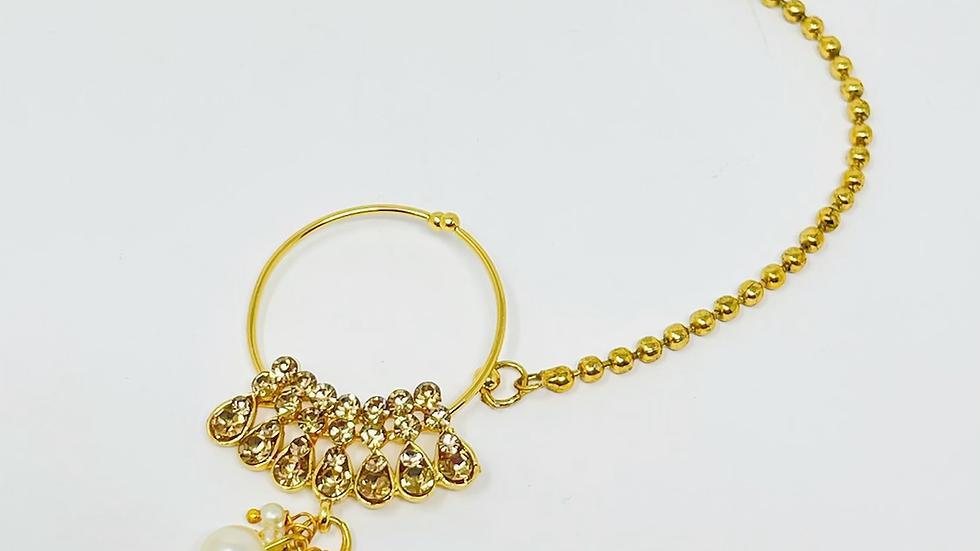 Golden Diamond-Faux Nose Chain