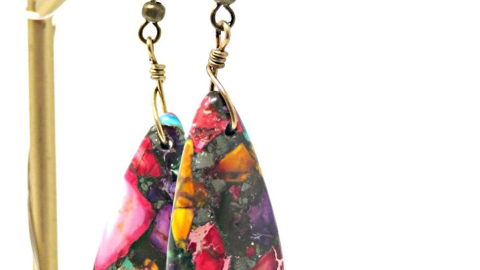 Multicolored Teardrop Earrings