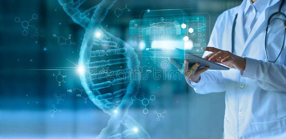 medicine-doctor-touching-electronic-medi