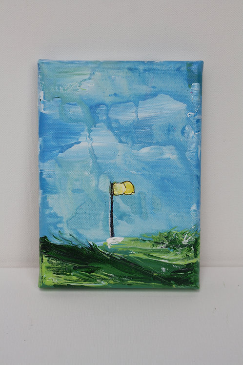 Mini Masters in blue. Acrylic on 5x7 canvas.