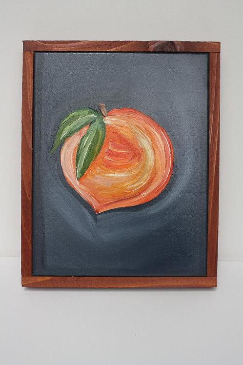Georgia peach. Oil on 11x14 framed canvas.
