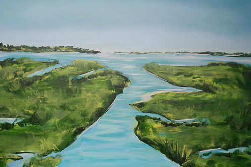 Low country scene. Acrylic on 24x36 canvas.
