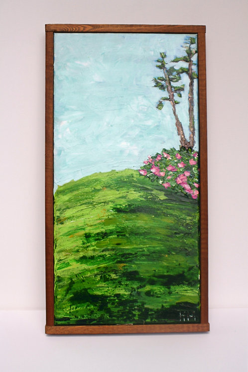 April in Augusta. Acrylic on 12x24 framed canvas.