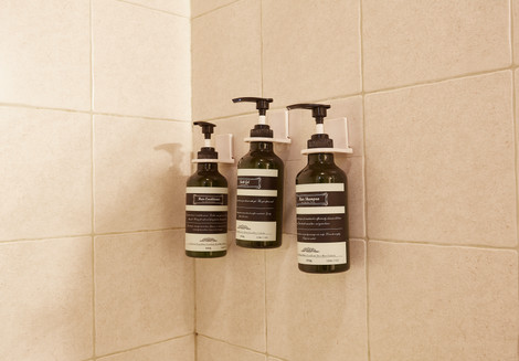 Shampoo, Shower gel and conditioner are provided.
